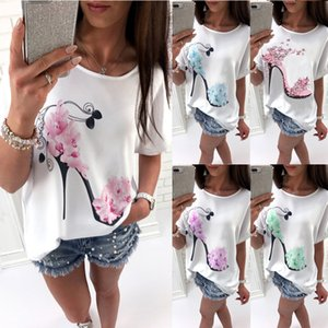 2018 New Cotton Fashion T-shirt en vrac de Wonen en vrac T-shirt à manches courtes de Batwing