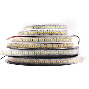 ATALED 240LED / m Led 스트립 빛 울트라 밝은 2835 3528 SMD 1200LED 5m 스트립 조명 문자열 램프 비 방수 쿨 화이트 DC12V