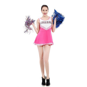 Cheerleader fêmea Sexy Vestido desempenho Traje Cosplay felicidades uniforme para o colegial trajes do sexo feminino 3 cores