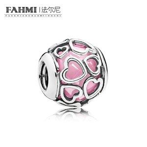 FAHMI 100% Argent Sterling 1: 1 Original 792036PCZ Tempérament Authentique De Mode Glamour Rétro Perle De Mariage Femmes Bijoux