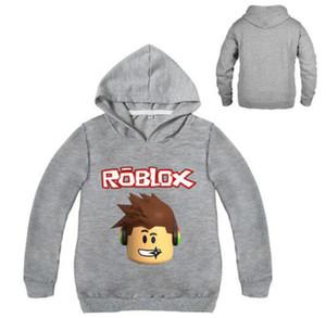 Herbst Kinder Roblox Sweatshirt Hoodies für Mädchen Kind Hoodies für Jungen Kinder Langarm-Shirt für Teenager Säuglingskarikatur Jungen Mantel
