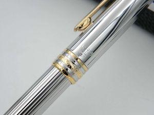 Bureau fournitures de bureau cadeau en acier inoxydable doré série 163 cadeau de luxe stylos à bille en métal