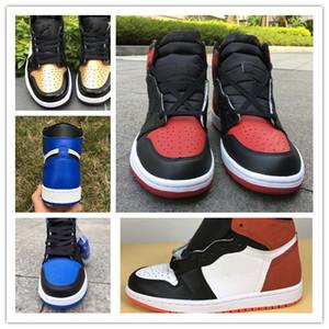 Kutu ile Yeni 1 6 yüzükler mavi beyaz oyunu kraliyet ERKEKLER basketbol ayakkabı spor sneakers eğitmenler en kaliteli boyutu 8-13