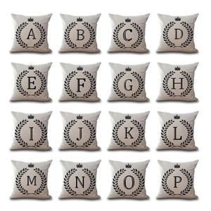 A-Z 26 İngilizce Mektup baş harfleri Yastık Kılıfı Yastık Kapak Keten Pamuk atmak Yastık kılıfı Koltuk Araba Pillowcover DHL 160