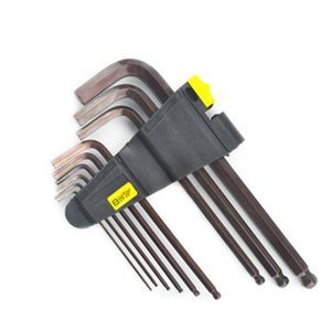 9pcs 1.5 / 2 / 2.5 / 3/4/5/6/8 / 10mm punta a sfera esagonale chiave esagonale chiave a brugola cacciavite strumento