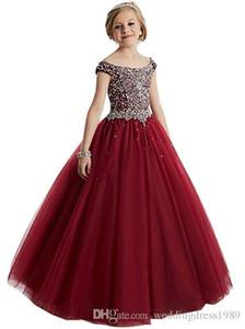 Kinder Blumenmädchenkleider Neck Little Girl Kleider Lace Chiffon Kids Formal Wear Für Hochzeit Kommunion Kleider