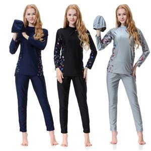 Plus Size Muslim Frauen Weiblicher Badeanzug Zweiteiliger Badeanzug Für Frau Muslimischen Schwimmen Beachwear 2018 neuen Islamischen Badeanzug