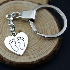 6 Pieces Key Chain Женщины Кольца для ключей брелок для ключей автомобилей Ноги 19x18mm