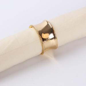 Qualitäts-Serviettenring Serviette Halter Gold Silber für Hochzeitsbankett Tischdekoration Hot Verkauf