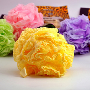 High quality comfortable lace bath flower ball multi-color bath ball to increase thickening color bath ball