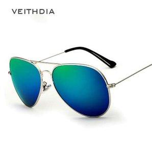 Veithdia marka unisex klasik tasarımcı erkek güneş gözlüğü polarize uv400 ayna lens moda güneş gözlükleri erkekler kadınlar için gözlük