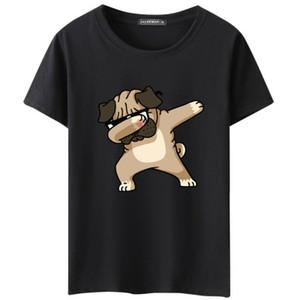 Мужская футболка собаки животных мультфильм печатных футболки лето повседневная высокое качество Hipster футболки мужчины