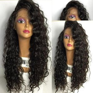 Peluca llena del cordón del pelo humano Rizo flojo Rizado Peluca llena del cordón Peluca peruana del pelo de la onda floja Pre-plucked Hairline 150 Density Front Front Wig