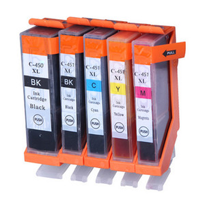 5PK PGI 450 CLI 451 Mürekkep Kartuşları Canon PIXMA IP7240 için Uyumlu MG5440 MG5540 MG6440 IX6840 MX924 MG6340 Yazıcı Kartuşu
