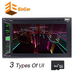 EinCar 6.2 '' Double Din Car DVD Player de CD Estéreo FM AM Rádio GPS USD TFT Painel de Exibição Colorido + 8 GB Cartão De Mapa de Controle Remoto