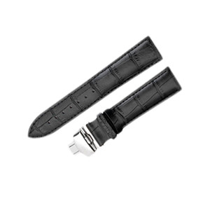 Black Brown Sport Genuine Leather Straps Watch Band Bracelet For Most Watches With Stainless Steel Clasp 16mm 18mm 20mm 22mm 2PC Lot