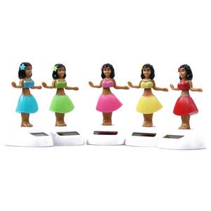 SIRENXI New Solar Powered Dancing Hula Girl Swinging Bobble Juguete Automático Novedad Happy Girls Juguetes Para Niños Regalo de Navidad
