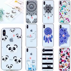 Blumen-Karikatur weicher TPU Fall für Iphone 11 PRO X XS MAX XR Xiaomi Redmi 6 6A Samsung Galaxy J3 2018 J7 J8 Einhorn Mandala Lächeln Haut-Abdeckung