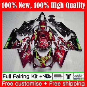 حقن النبيذ الأحمر ل Aprilia RS4 RSV125 06 07 08 09 10 11 RS-125 0MT21 RS 125 RR RS125 2006 2007 2008 2009 2010 2011 Fairing Bodywork