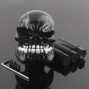 Funzionamento manuale Car Gear Shift Manopola Shifter Lever Resin Skull Black Custom New