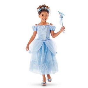 Princesse Bébés Filles Robe 2018 Nouvelle Mode été Robe Enfants Cindrella Bande Dessinée Cosplay Costume Occasions Spéciales Vêtements pour Childern