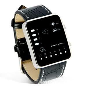 Moda Relógios Masculino Digitale LED Rosso Sport Orologio da polso Binario Orologio da polso Cuoio Donna Uomo Orologio caldo di alta qualità