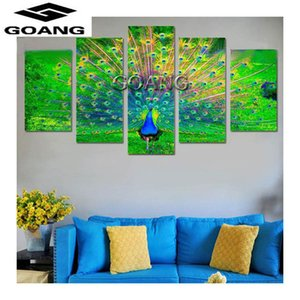 2018 diy 5pcs set mosaic 5d diamond embroidery peacock animals full diamond painting cross stitch square drill multi-pictures