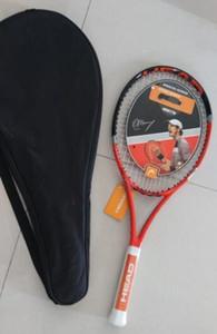 2016 عالية الجودة رئيس مضرب تنس Microgel الراديكالي النائب الألياف L4 الكربون مضرب تنس مع حقيبة قبضة حجم 4 1/4 4 3/8
