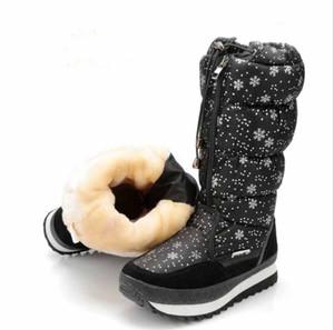 Stivali da neve da donna Big Size Proof Auoia Freddo Prova di Oxford Tessuto Pioggia Stivaletto Snowflake caldo Tenere Scarpe Inverno Zy824