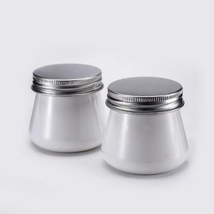 80g white wide mouth cream jar plastic PET 80ml cosmetic cream bottle With Aluminum Cap free shipping