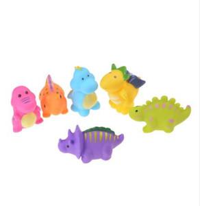 6pcs / set Dinosaur Squishy Caoutchouc Squeeze Guérir Le Soulagement Du Stress Décoration Fun Kids Kawaii Squeeze Jouet