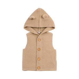 Baby garçons filles tricoter gilet enfants cubes d'enfants oreilles mignonnes gilet gilet chaud hotte manteau enfants coton gilet vêtements vêtements