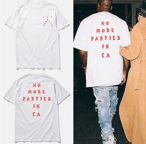 Skate Fashon Marca camiseta Amantes Hip Hop cor sólida LA Carta Imprimir Tops Homens Mulheres High Street Tees
