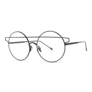 Non-Prescription classic Round Circle Frame Clear Lens Metal Frame Glasses for men and Female Unisex Circle Eyeglasses