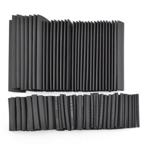 127 adet Siyah Poliolefin 2: 1 Halojen içermeyen 10.4 Mpa 15 kV / mm Isı Borusu Shrink Boru Manşon Seti 7 Boyutları