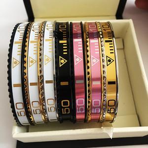BC DropShipping NOUVEAU cadran italien manchette titane acier compteur de vitesse bracelets officiels bracelets pulseras vintage pour les hommes