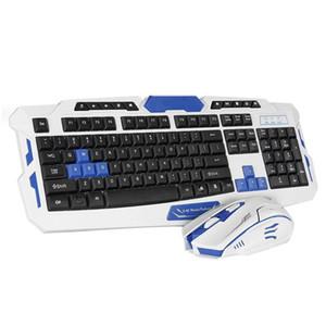 Tastiera wireless e mouse Combos Slim 2.4 GHz Tastiera 104 Tasti con ricevitore per Office Gaming Ergonomic 2 pezzi