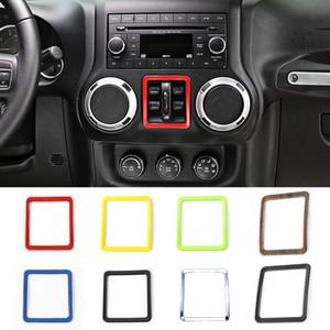 자동차 창 스위치 버튼 상자 창 리프트 버튼 스위치 커버 트림 프레임 장식 지프 랭글러 2011-2016에 적합