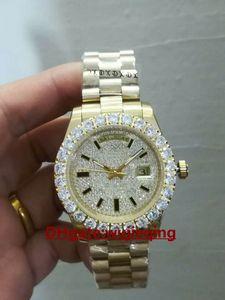 Marca de moda movimiento automático avanzado anillo de diamante en forma de garra diamante completo joya dial 41 mm espejo de zafiro 118348 reloj para hombre