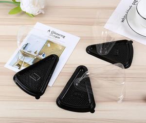 Desechable de plástico transparente triángulo de queso postre pastel de cajas de plástico Cake Box para mostrar cuadros de Pasteleria Postre
