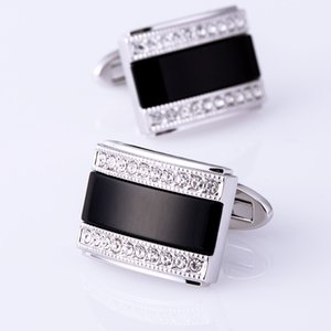 Kflk Jewelry French Shirt Cufflink For Mens Brand Fashion Black Cuffs Link Button High Quality Luxury Wedding Male Free Shipping