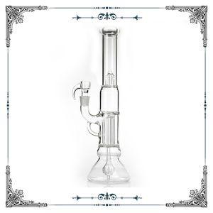 Pilar Pilar pinta Natty cuello con pipas de agua clara Puente cuadriculado embriagadora Imperial Perc percolador bongs de vidrio pelele plataformas petrolíferas