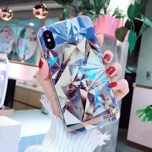 Couverture de cas de téléphone mignon brillant brillant IMD Diamond Blu-Ray pour iphone 6 7 8 plus X