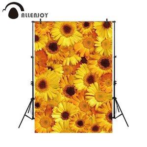 Atacado fotografia pano de fundo amarelo girassol decoração fundo estúdio photocall impresso photobooth photoshoot