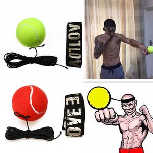 Combattez l'équipement Boxe Ball Boxeo avec bandeau pour la formation de vitesse réflexe Punch de boxe Muay Thai exercice jaune / rouge