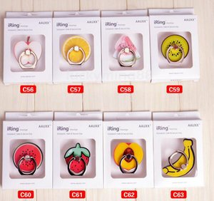 Kreativer Ring-Schnallen-Handy-Halter-Standplatz-Stützhandy befestigt Frucht-Erdbeerbanane für iPhone 7 plus Samsung S8 687