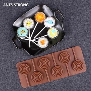 ANTS STRONG 6 grilles silicone moule à chocolat / gâteau moule à sucette flocon de neige forme de beignet aking fournitures