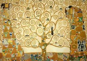 Gustav Klimt The Tree of Life, Repro dipinto a mano di alta qualità / HD Stampa arte astratta pittura a olio su tela multi formato personalizzato / cornice Kl018