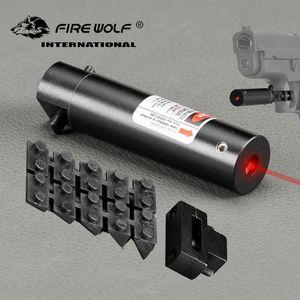6 PCS / LOT 전술 빨간 점 꼬리 스위치가있는 미니 빨간 레이저 시력 범위 랫 테일 사냥 광학이있는 범위 권총
