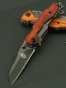 Wholesale Mini Quality Hight X27 Camping Handle Knife Knife Quality Lines High Tactical Folding Knife Beautiful Pocket Wooden Tool Wmten
